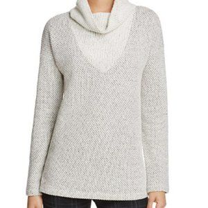 Sanctuary small gray white cowl neck knit sweater